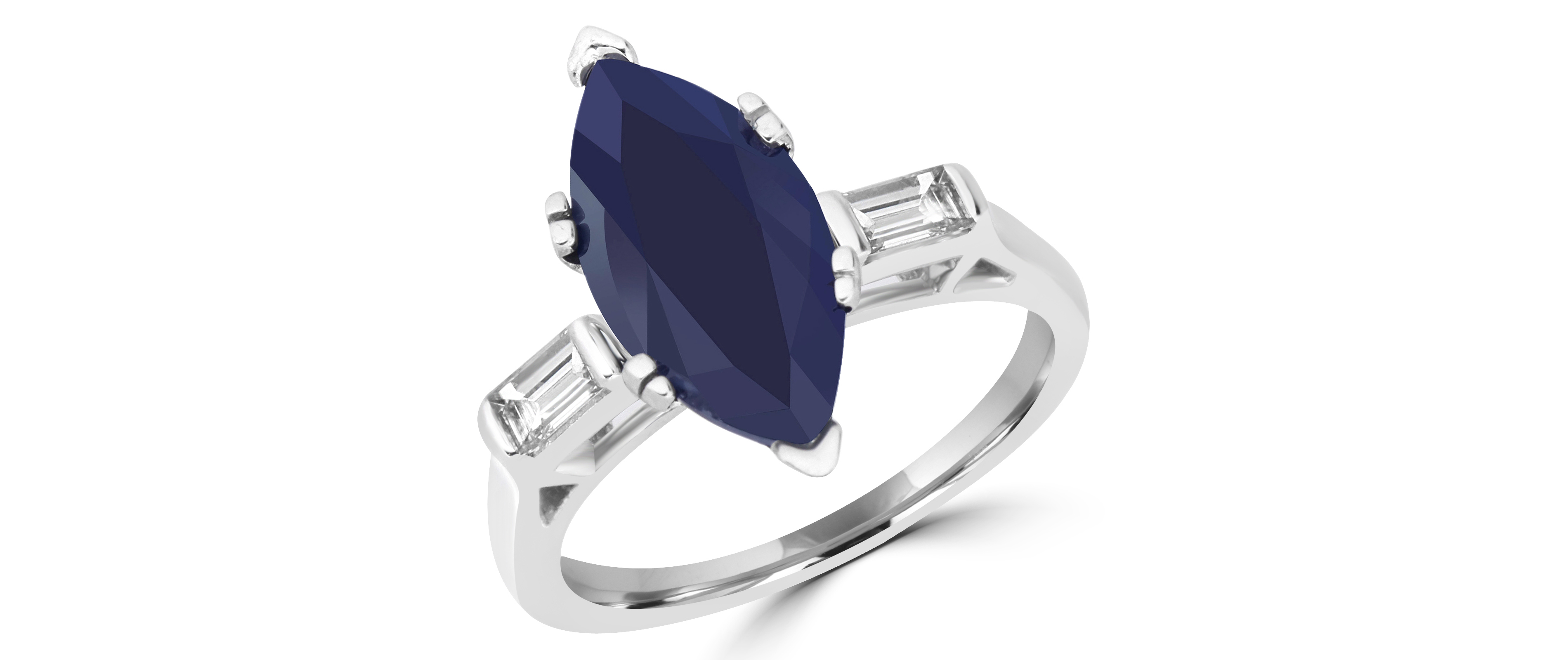 sapphire fullxfull dark tiny simple stackable il ring promise prong listing birthstone marquise dainty blue september