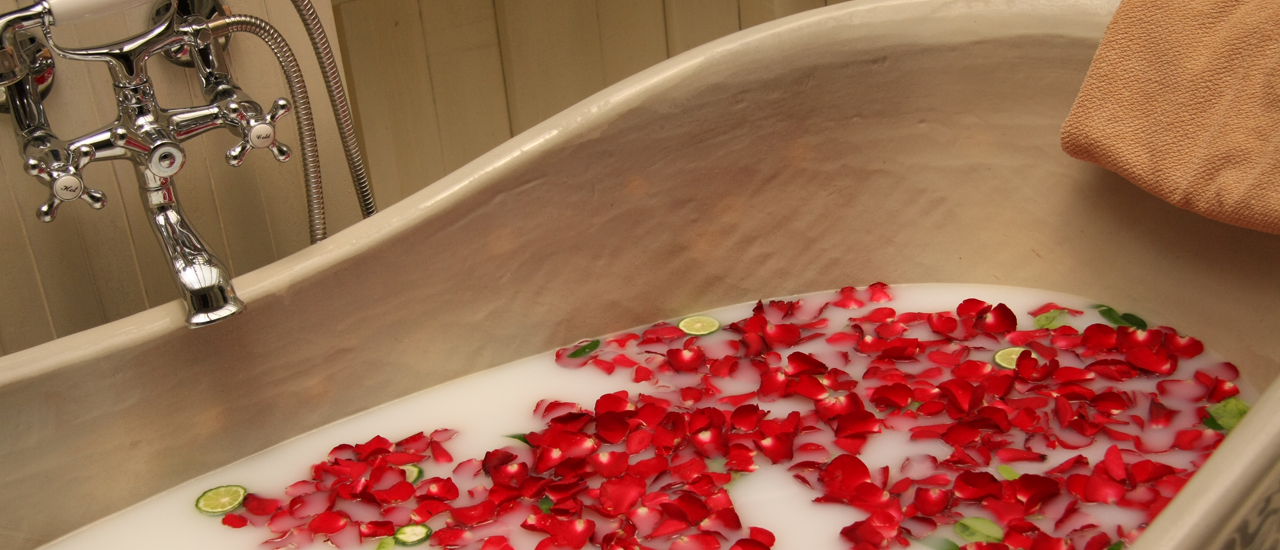A tranquil bath can be the most romantic gesture.