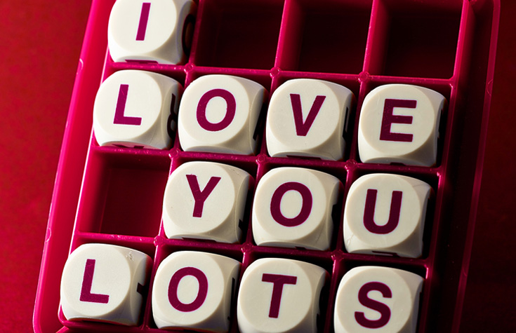 I love you in blocks